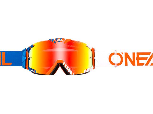 ONeal B-30 Goggles DUPLEX blue/white/orange-radium